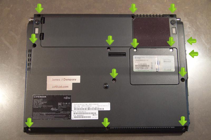 Fujitsu siemens lifebook s series fan replacement